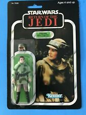 STAR WARS KENNER 1983 PRINCESS LEIA PONCHO 77-BACK CLEAR BUBBLE
