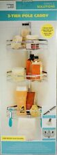 New Simple Solutions 3 Tier Shower Pole Caddy Extra Large Shelves 9 Feet