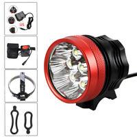 Premium MTB Bike Head Light 8x XM-L2 LED Bicycle Light Rechargeable Flashlight