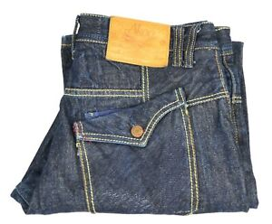 Akoo Jeans Men's Size 36 Relaxed Fit Dark Wash Fashion Blue Jeans