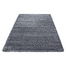 Hochflor Shaggy Teppich einfarbig wohnzimmer langflor teppich TIVOLI 2500 Grau
