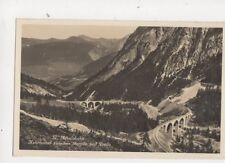 Albulabahn Kehrtunnel Berguen & Preda Switzerland RP Postcard Guler 334b