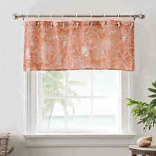 Seashell 50-Inch Mini Grommet-Top Window Valance in Coral