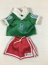 Vintage SOCCER Ty Gear Beanie Babies Kids Doll Clothes Set Outfit -No Shoes