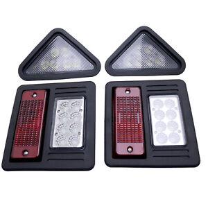 Front & Rear LED Light Kit Fits Bobcat Skid Steer Loader 7259524,7259523,6670284
