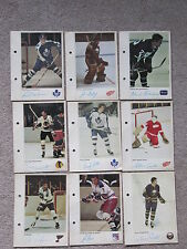 1971/72 NHL Action Player Photos.  77 Total (70 different).  Many stars