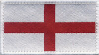 England Flag St George's Woven Badge, Patch 8cm x 4.5cm