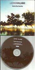 LUCINDA WILLIAMS 2 RARE DEMO TRX 2007 PROMO DJ CD single Unsuffer me /Everything