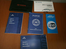 03 2003 Toyota Corolla Matrix Owners Manual Set