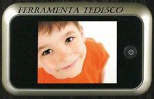 SPIONCINO DIGITALE PER PORTE D'INGRESSO CROMO SAT TELECAMERA E LCD INTERNO CASA