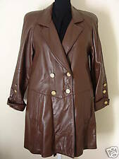 Tibor  Brown NEW  S  to M swing leather coat .