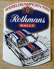 Rothmans Rally Opel Ascona 400 World Champion 1982 Motorsport Sticker / Decal