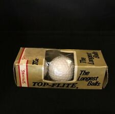Vintage Unique Pack Of 3 New Spaulding Golf Balls Top-Flite The Longest Balls