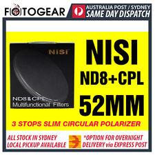 NISI ND8 & CPL 3 Stop Ultra Slim Circular Polarising Neutral Density 52mm Filter
