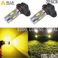 Alla Lighting 3200lm 3000K 27-LED 9006 Fog Light Driving Bulb Lamp Golden Yellow