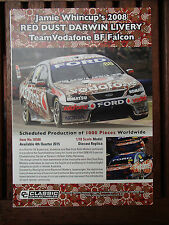 BIANTE 1:18 SHOP BROCHURE FORD BF FALCON WHINCUP 2008 RED DUST DARWIN LIVERY