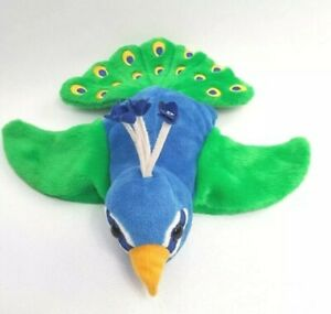 Caltoy Blue Green Yellow Peacock Big Hand Puppet Plush Stuffed Animal Fast Ship