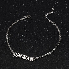 KPOP Bangtan Boys JUNG KOOK Name Letter Stainless Steel Bracelet Adjustable