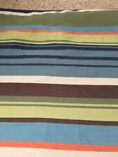 POTTERY BARN Teen Stripe Twin Duvet Cover, Heavy Cotton, Green Blue Brown NICE!