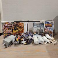 Nintedo Wii Console Bundle w/ 5 games & 2 Remotes/nunchucks RVL-001