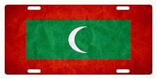 MALDIVES Flag Custom License Plate NATIONAL Emblem PAPER Version