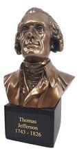 Thomas Jefferson Bronze Finish Bust Statue