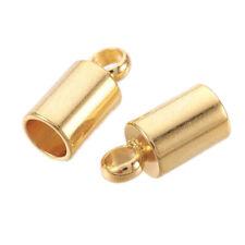 6 conjuntos de Plata Plateado casquillos de extremo consejos para 1.5mm Cable de 2mm y 12mm Lobster Clasps UK