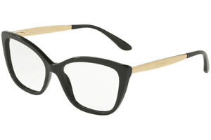 New Dolce & Gabbana DG3280 501 Black Gold RX Eyeglasses Frames 52mm Italy