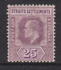 MALAYA (STRAITS) - 1906/12 WMK.MCA 25c DULL & BR. PURPLE MINT SG.161 (REF.D2)