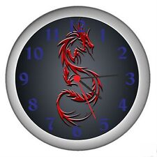 Red Dragon Room Decor Wall Clock