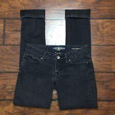 Lucky Brand Lola Skinny Jeans Size 0 Stretch Denim Black Gray Denim Womens