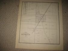 ANTIQUE 1912 HASKINS MIDDLETON TOWNSHIP WOOD COUNTY OHIO MAP RAILROAD LAND OWNER