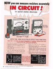 1971 Sencore FE20 FE21 Multimeter Test Equipment Vtg Print Ad