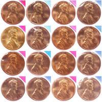 1980-1981 1984-1989 P D Lincoln Memorial Cent Mint Cello Set BU Run 16 US Coin