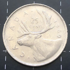 1969 CANADA 25 CENTS COIN - CANADIAN 25 CENT