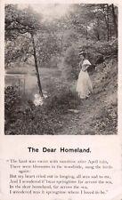 The Dear Homeland Poème GB de Vœux Carte Postale c1906 Pstmk Falmouth