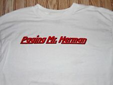 funny PEEWEE herman PAGING mr HERMAN shirt XL paul REUBENS james BROLIN dottie