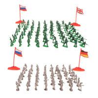 Plastic Army Men 2cm Figures (400pcs) Military Toy Soldier Battlefield Accs