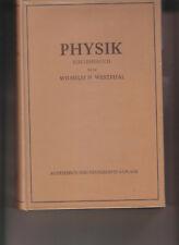 Physik. Ein Lehrbuch. 1956 von  Westphal, Wilhelm