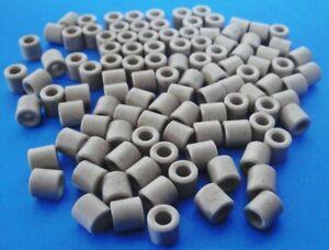 """Lot (108) Ceramic Bead Insulator Standoffs ¼"""" OD x ¼"""" L .135"""" ID"""