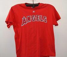LA Angels #32 Hamilton Majestic Red 100% cotton L