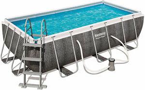 Bestway 56722 Power Steel Pool 412x201x122cm mit Filterpumpe und Zubehör