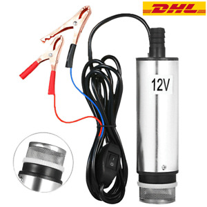 Tauchpumpe 12V Minipumpe 30L/min Wasserpumpe Diesel Ölpumpe Transferpumpe R4J4