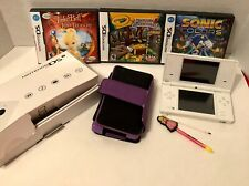Nintendo DS Lot 1 Nintendo DS NO CHARGER 3 DS Games Sonic Tinkerbell 2 Stylus