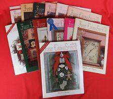 New ListingLot of 13 Just Cross Stitch Magazines 1987 & 1988 Both Complete, plus Nov/Dec 86