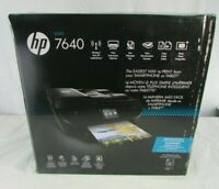 HP ENVY 7640 All-In-One Home Office Wireless Black Printer, NEW