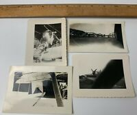 Lot of 4 WWII Photos US Navy Aircraft Plane Catalina PBY Fighter Carrrier