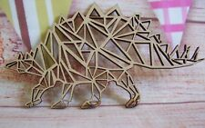 Stegosaurus Geometric MDF  Dinosaur 150mm Craft Blank, plaque
