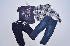 Kombi Jeans George + Jogging Hose + Hemd + Shirt Next, 18-24 Mon (Gr 86 92), neu