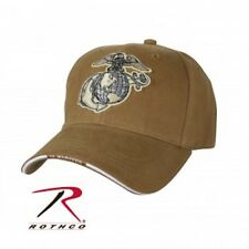 USMC Marines  Brown Cap with Silver embroidered  EGA.  Marines on Back Strap